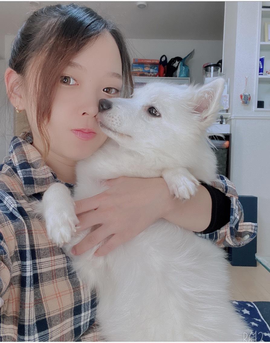 小林彩乃選手と愛犬デイジーちゃん